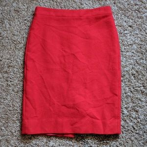J Crew Pencil Skirt - Red